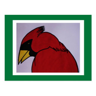 Cardinal in Ink Postcard
