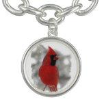 Cardinal in Snow Bracelet