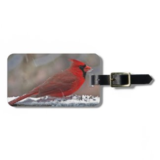 Cardinal in Snow Tags For Bags