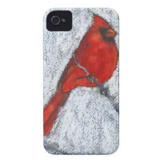 Cardinal in the Snow iPhone 4 Cover