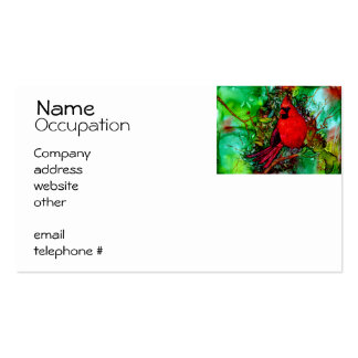 Cardinal In the Tree Business Card