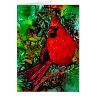 Cardinal In the Tree Card Card