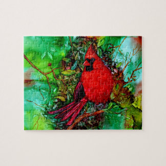 Cardinal In the Tree Jigsaw Puzzle