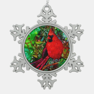 Cardinal In the Tree Ornaments