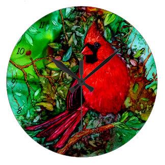 Cardinal In the Tree Wall Clock