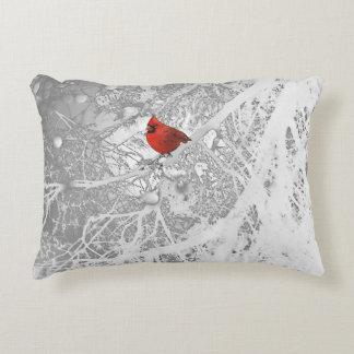 Cardinal in Winter Decorative Pillow