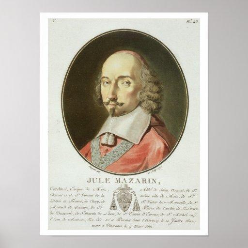 Cardinal Jules Mazarin (1602-61) from 'Portraits d Print