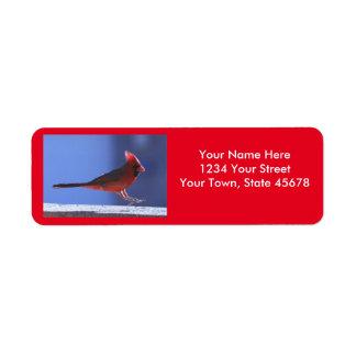 Cardinal Landing Label