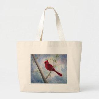 cardinal large tote bag