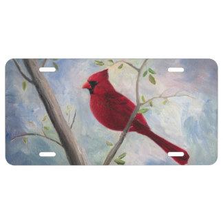 Cardinal License Plate