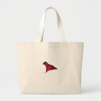 cardinal lory parrot, tony fernandes large tote bag