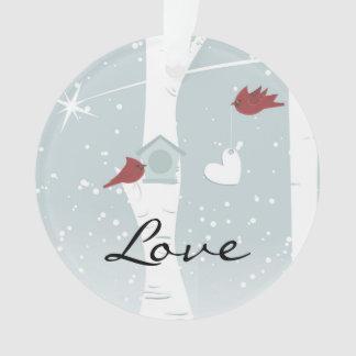 Cardinal Love Birds Personalized Ornament
