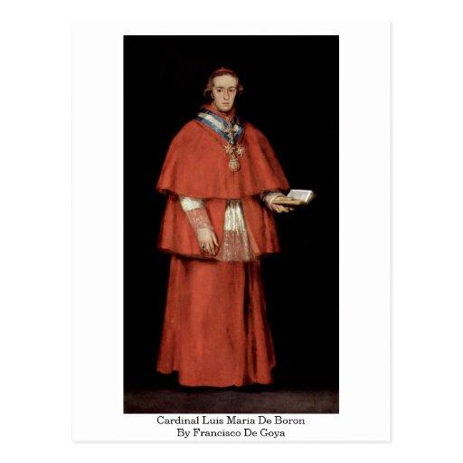 Cardinal Luis Maria De Boron By Francisco De Goya Postcards