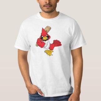 Cardinal Mascot Playing Baseball T-Shirt