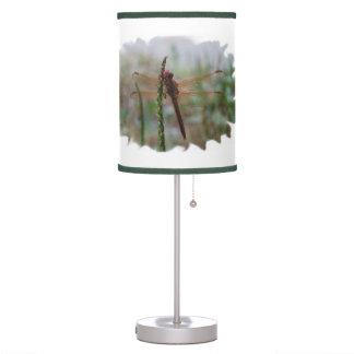 Cardinal Meadowhawk Dragonfly Desk Lamp