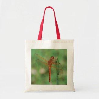 Cardinal Meadowhawk Dragonfly tote bag bag