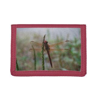Cardinal Meadowhawk Dragonfly Tri-fold Wallet