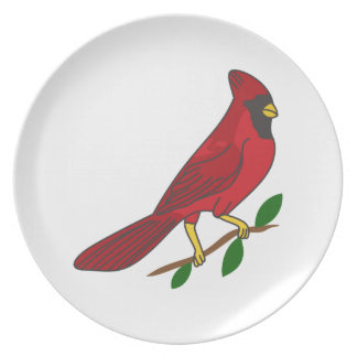 Cardinal Melamine Plate