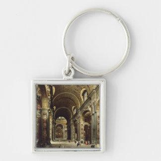 Cardinal Melchior de Polignac Silver-Colored Square Keychain
