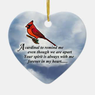 Cardinal Memorial Poem Ceramic Ornament
