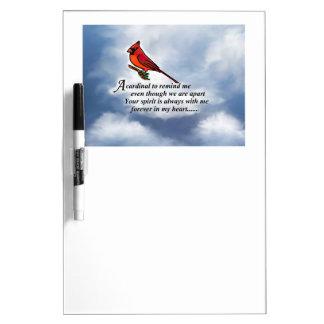 Cardinal Memorial Poem Dry-Erase Board