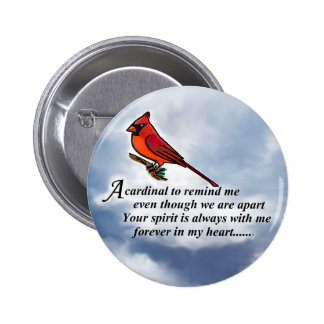Cardinal Memorial Poem Pinback Button