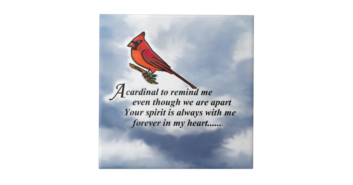 Cardinal Memorial Poem Tile Zazzle Com