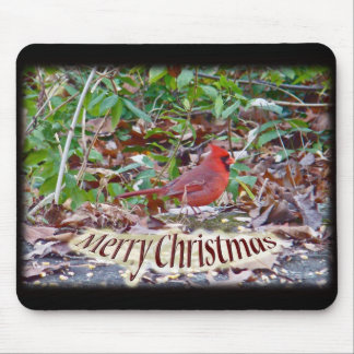 Cardinal Merry Christmas Items Mouse Pad