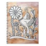 Cardinal, Mexican Bark Style Notebook