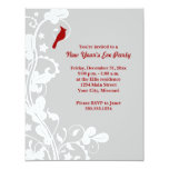 Cardinal New Year's Eve Party Invitations