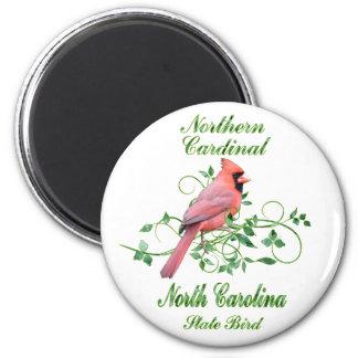 Cardinal North Carolina State Bird 2 Inch Round Magnet