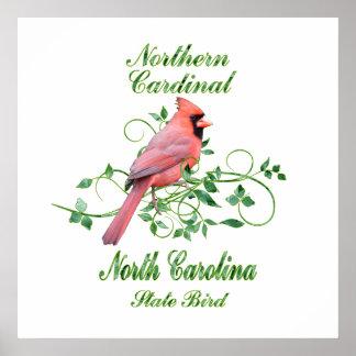 Cardinal North Carolina State Bird Poster