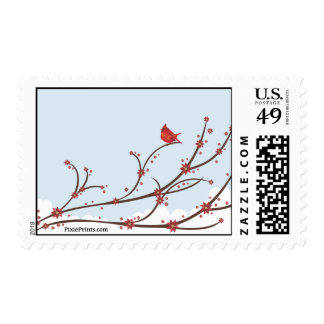 Cardinal on a Branch Postage Stamp