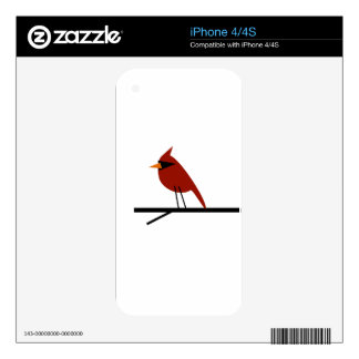 Cardinal on a Limb Decal For iPhone 4