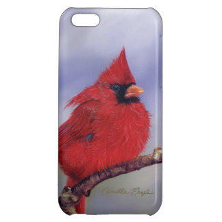 """Cardinal on Branch"" by Camille Engel iPhone 5C Case"