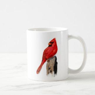 Cardinal on Post Coffee Mug