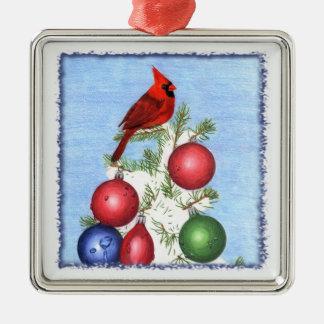 Cardinal Ornament Premium Square