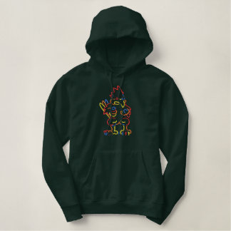 Cardinal Outline Embroidered Hoodie
