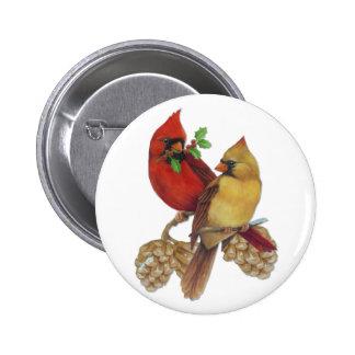 Cardinal Pair 2 Inch Round Button