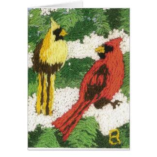 Cardinal Pair Card