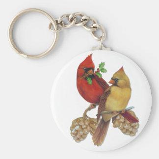 Cardinal Pair Keychain