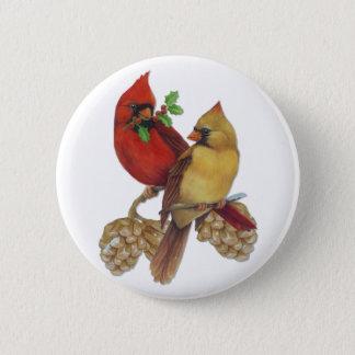 Cardinal Pair Pinback Button