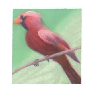 Cardinal Perched Notepad