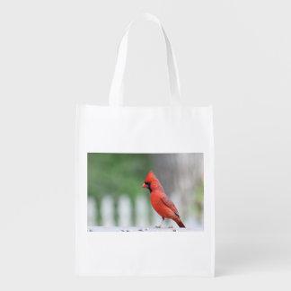 Cardinal photo grocery bag