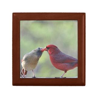 Cardinal photo jewelry box