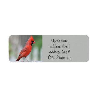 Cardinal photo return address label
