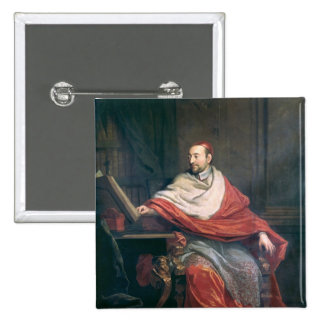 Cardinal Pierre de Berulle 2 Inch Square Button