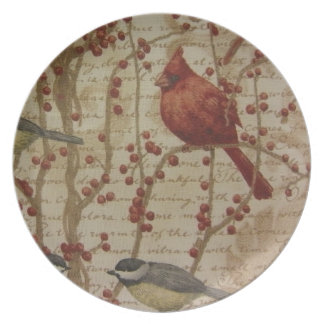 Cardinal Plato De Comida