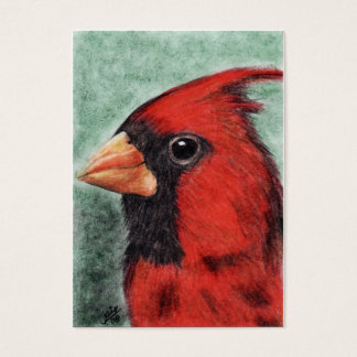Cardinal Portrait ACEO Art Trading Cards