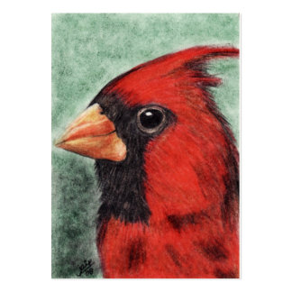 Cardinal Portrait ACEO Art Trading Cards Large Business Card
